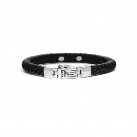 Komang Small Leather Bracelet Black