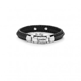 Nurul Small Leather Bracelet Black