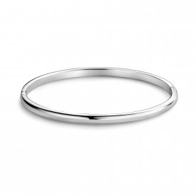Zilveren massieve bangle - 4mm