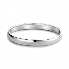 Zilveren massieve bangle - 12mm