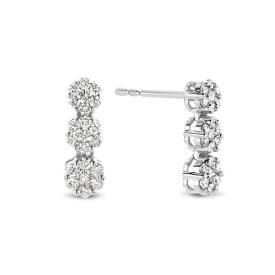 Witgouden oorknoppen met diamant GGH-001
