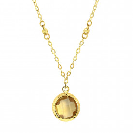 Geelgoud collier met citrien 0004DCSB-CI-Y