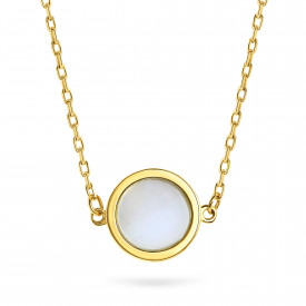 Geelgoud collier FOR6N0359-MOP-Y
