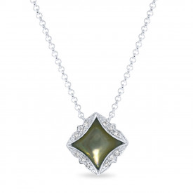 Witgoud collier 198XD03081GR-W