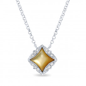 Witgoud collier 198XD03081YLW-W