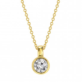 Gold plated collier met zirkonia 09.2182Z.35