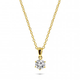 Goldplated collier 09.2213Z.35