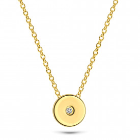 Gold plated collier 09.433Z.35
