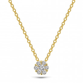 Gold plated collier 09.462Z.35