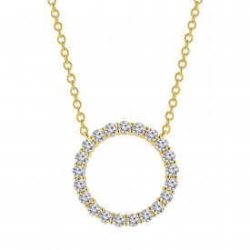Gold plated collier met zirkonia 09.785Z.35