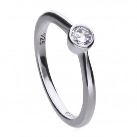 Zilveren solitaire ring 814.0040.175