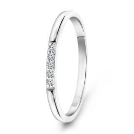 Witgouden ring met diamant 73967R001