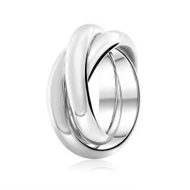 Zilveren vierdelige ring 10-3567-0010