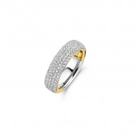 Gold plated ring met zirkonia 12235ZY