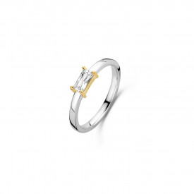 Gold plated ring met zirkonia 12247ZY