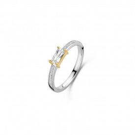 Gold plated ring met zirkonia 12248ZY