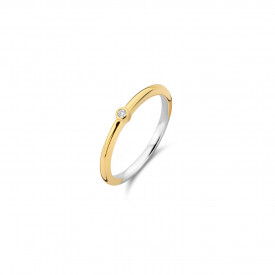 Gold plated ring met zirkonia 12249ZY