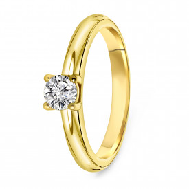 Gold plated ring met zirkonia 01.106Z.35