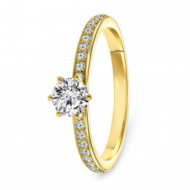 Gold plated ring met zirkonia 01.2320Z.35