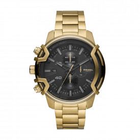 Griffed Chronograph Gold-Tone Stainless Steel Horloge