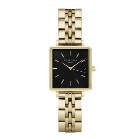 The Mini Boxy Black Steel Gold QMBG-Q025