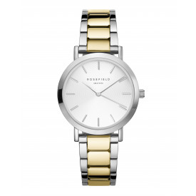 The Tribeca White Sunray Steel Silver Gold Duo TWSSG-T63