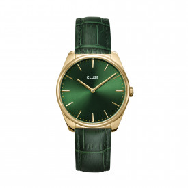 Féroce Leather, Gold, Forest Green/Forest Green Croco