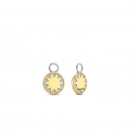 Gold plated oorbedels met zirkonia 9228ZY