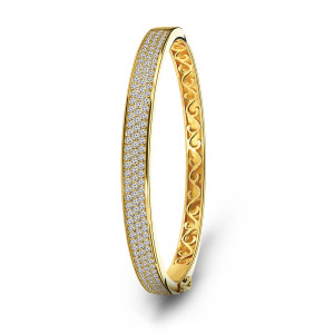 Gold plated armband 01.5052Z.35
