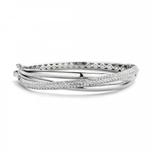 Zilveren bangle F376-1CB