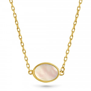 Geelgoud collier FOR6N0352-MOP-Y