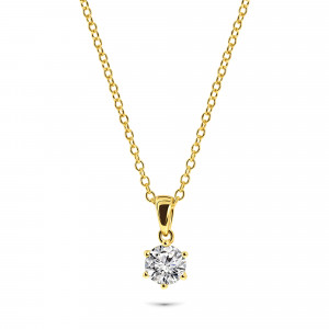 Gold plated collier 09.2213Z.35