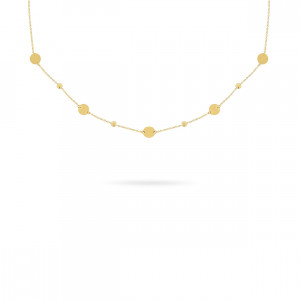 Geelgoud collier FG083-305