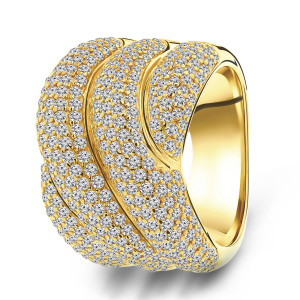Goldplated ring 01.084Z.35