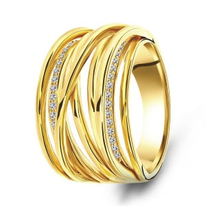 Goldplated ring 01.096Z.35