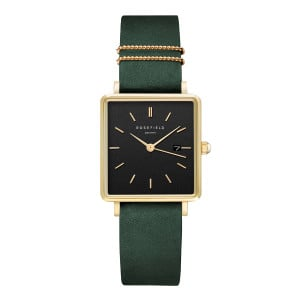 The Boxy Black Sunray Forest Green Gold QBFGG-Q031
