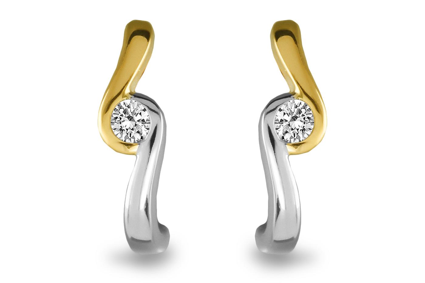 Gouden bicolor oorknoppen SOL-M943-010-G2