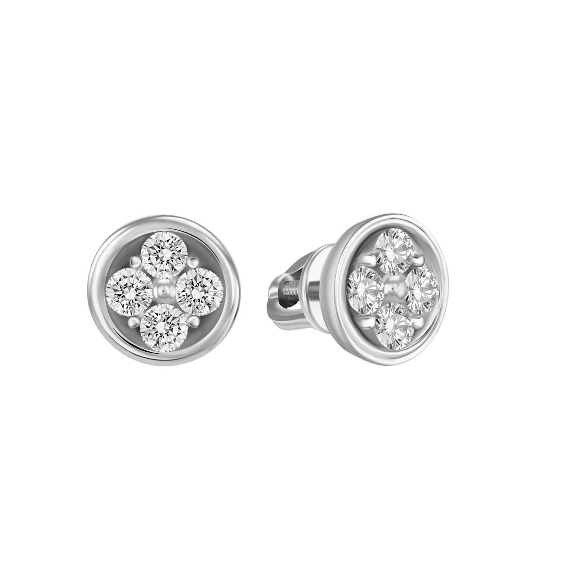 Witgouden diamant oorknoppen CDR-02-W
