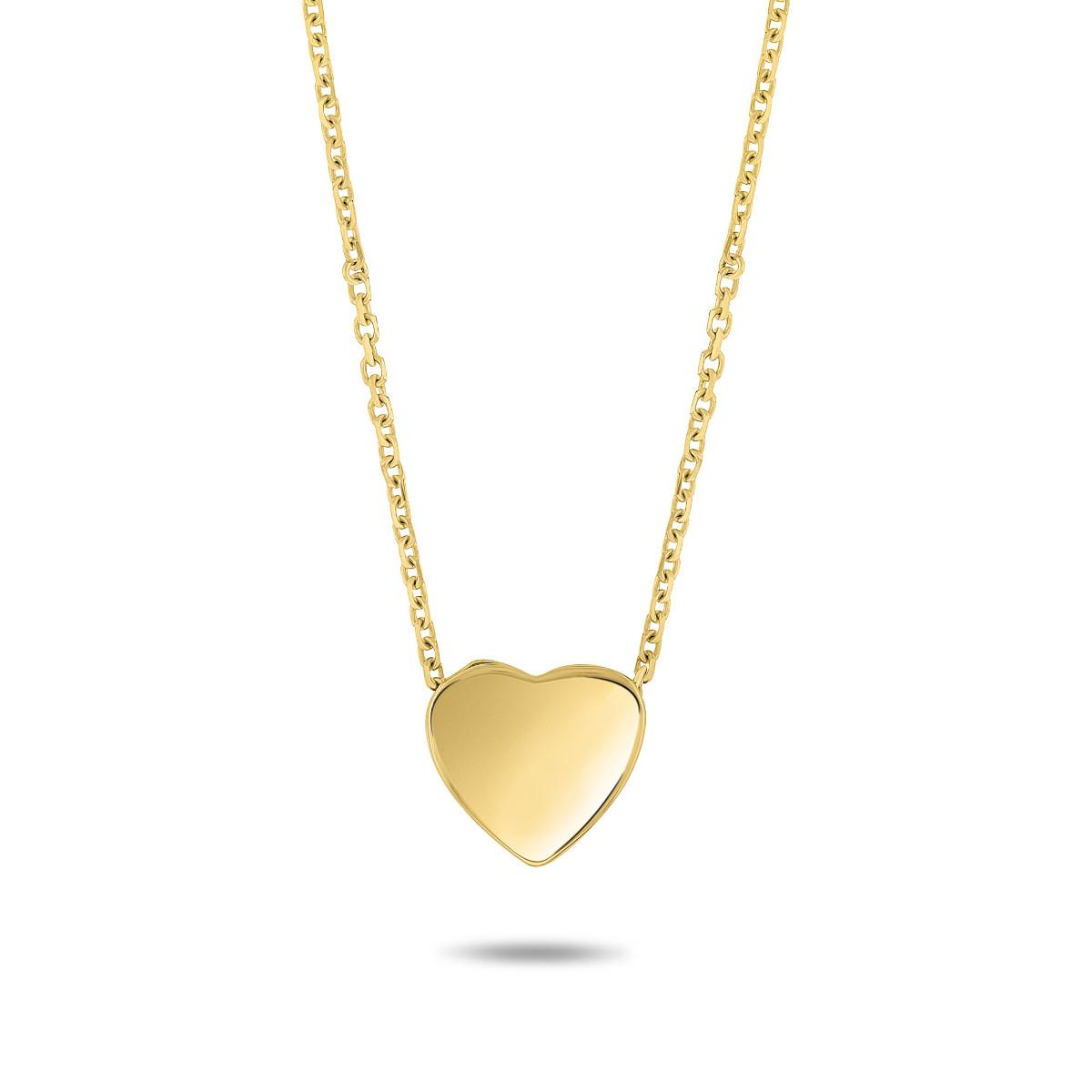 Geelgouden collier met hart