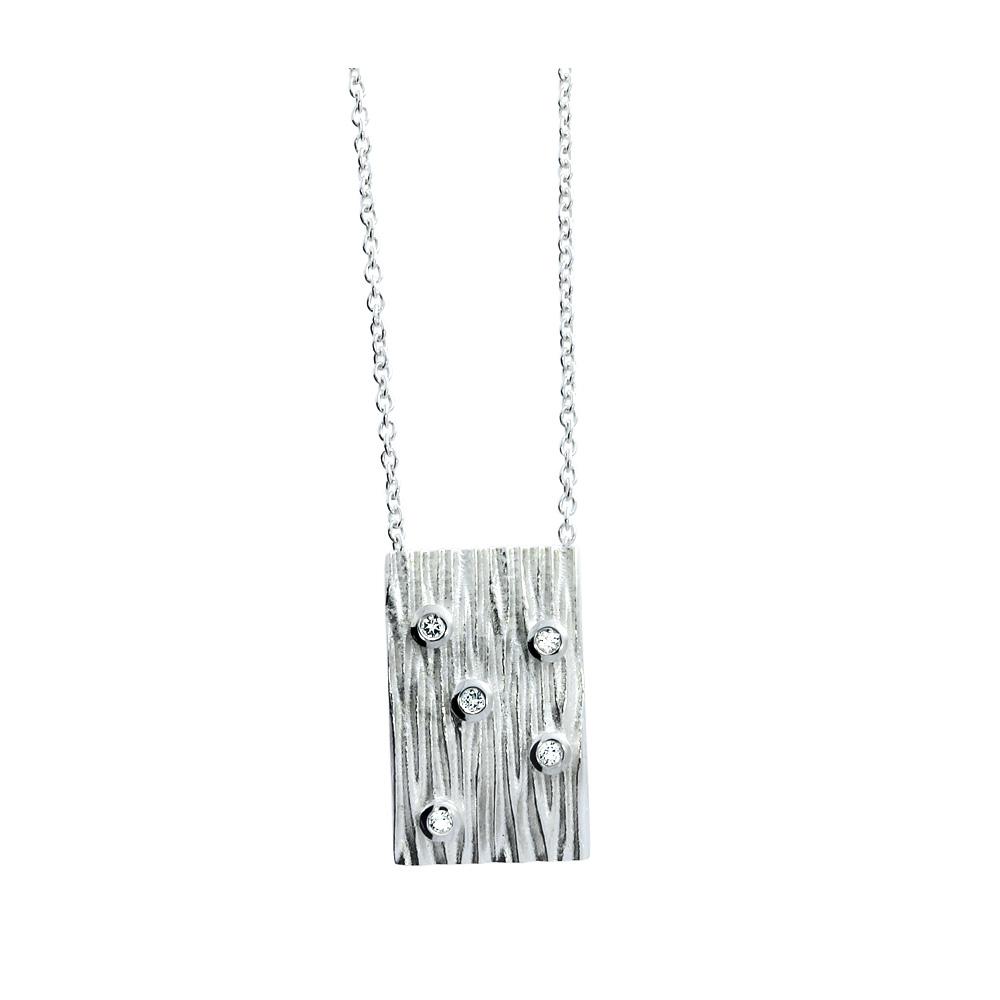 Zilveren collier 241390-W