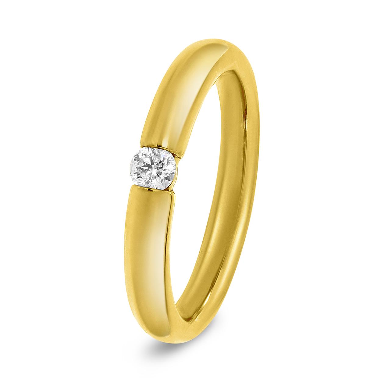 Solitaire geelgouden ring