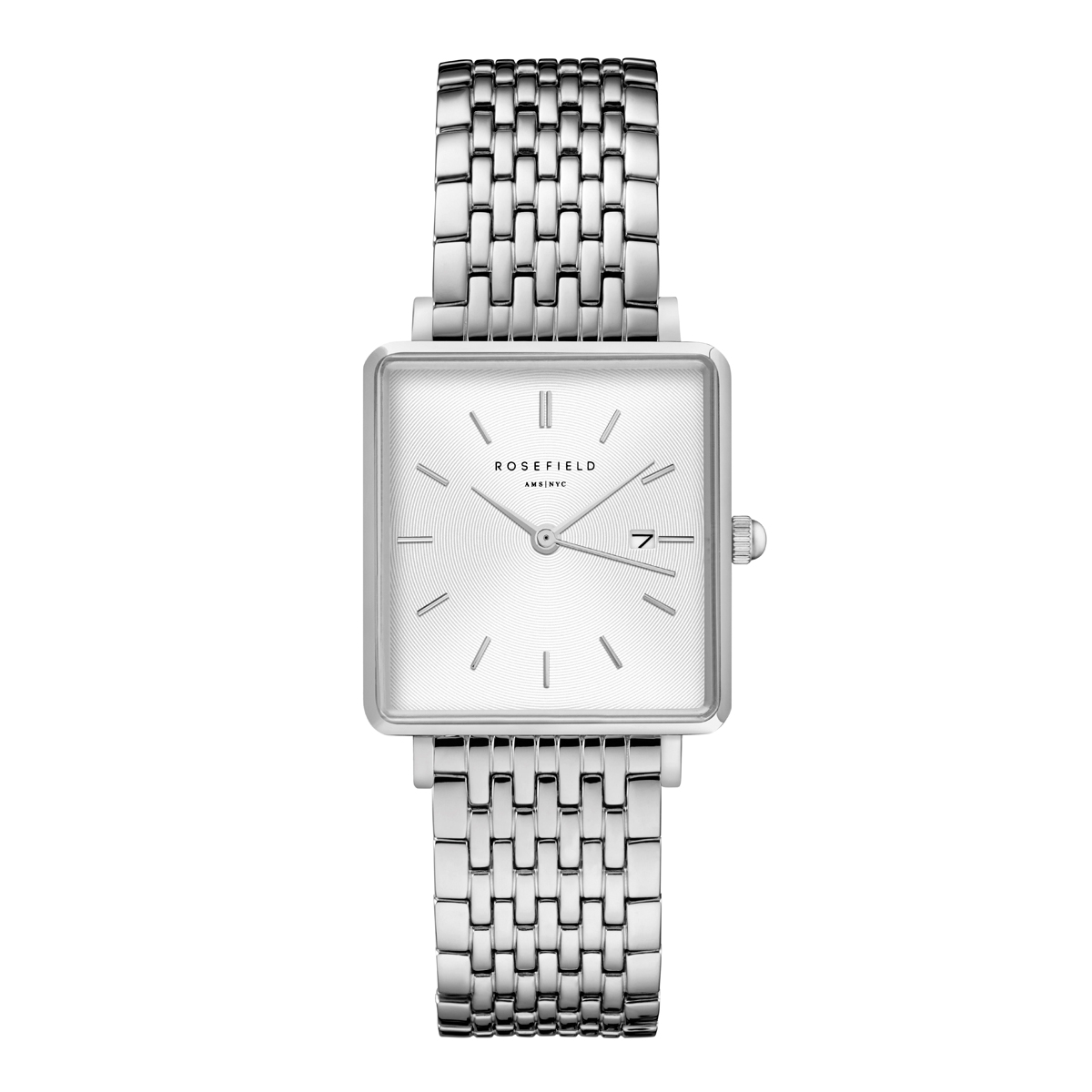 The Boxy White Sunray Steel Silver QWSS-Q08