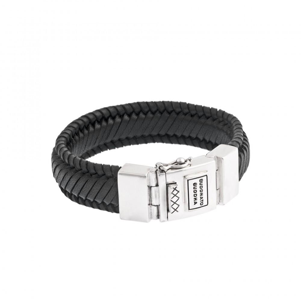 Armband Edwin leather Black 783BL