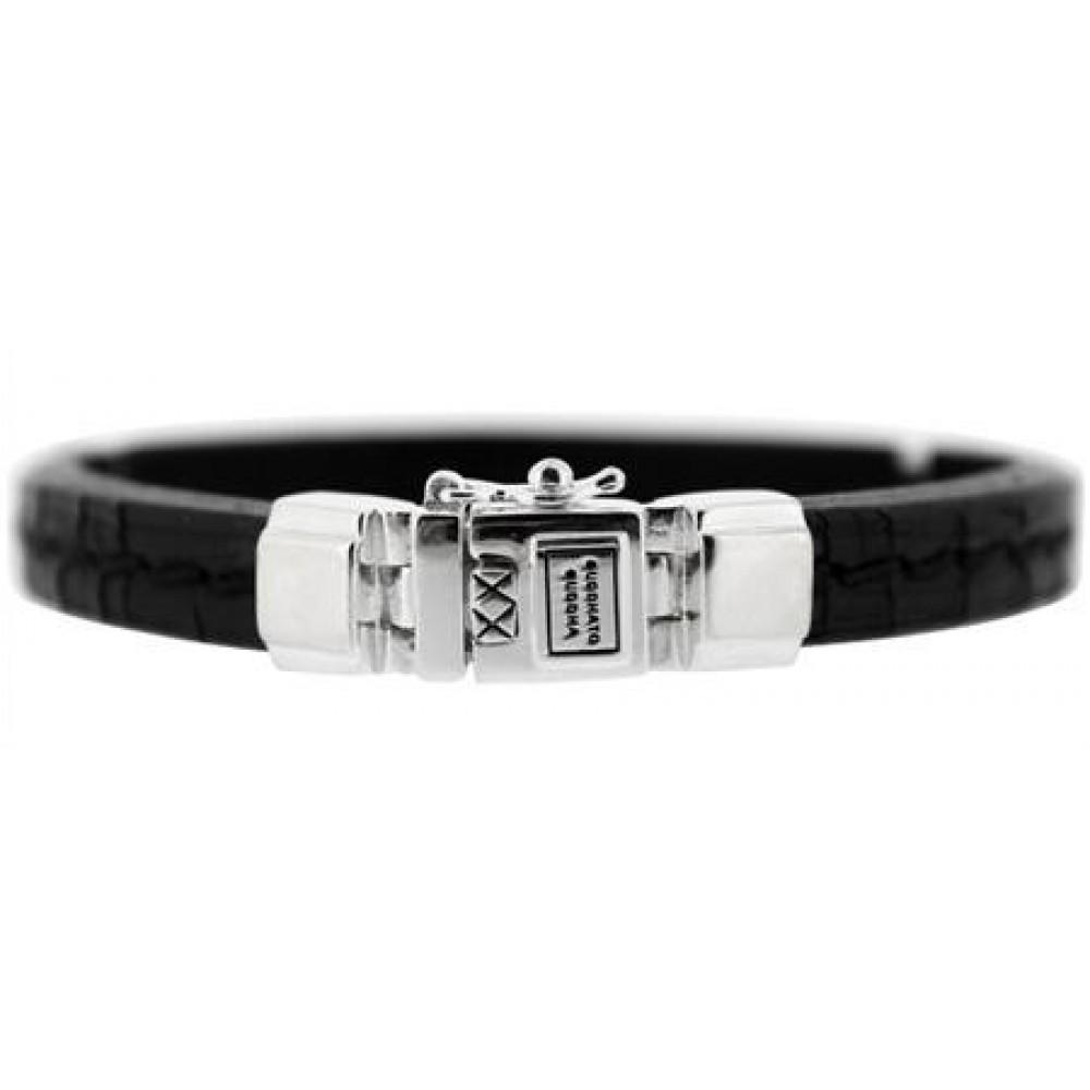 Leren armband Sascha black 784BL