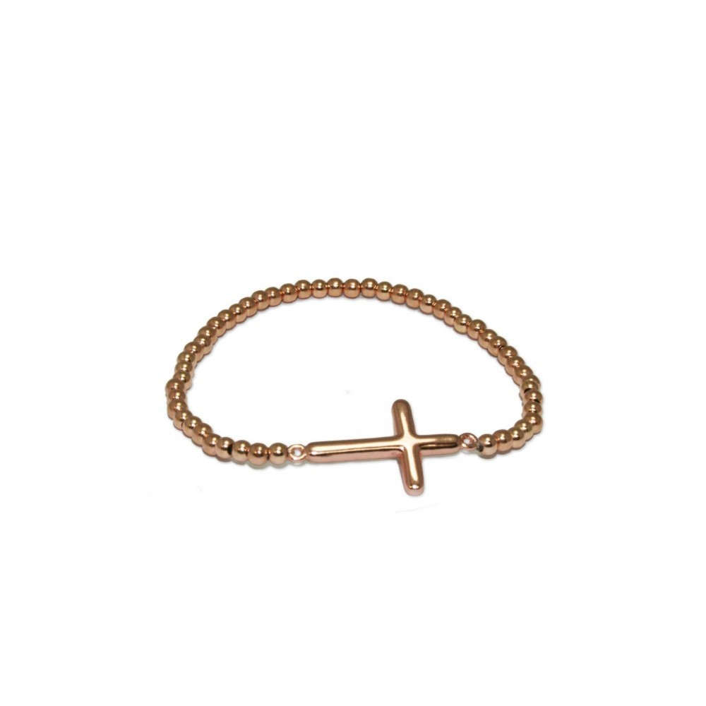 Vergulde armband kruisje Rome 7606