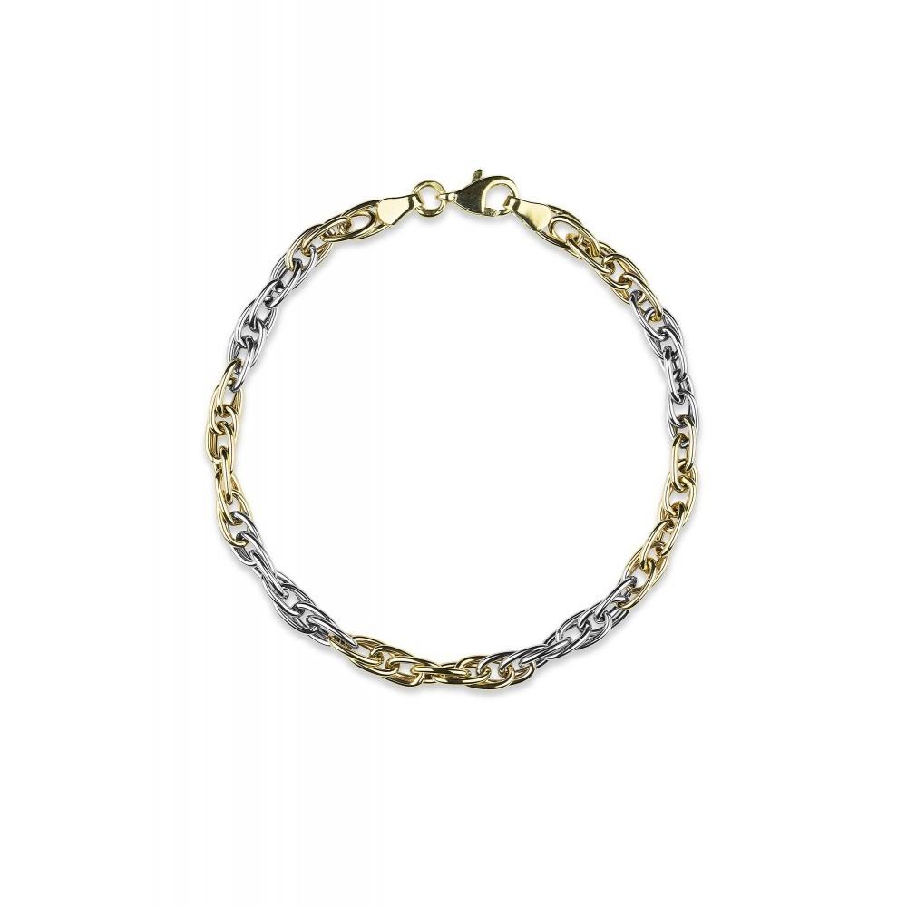 Bicolor gouden armband X3HOB6471