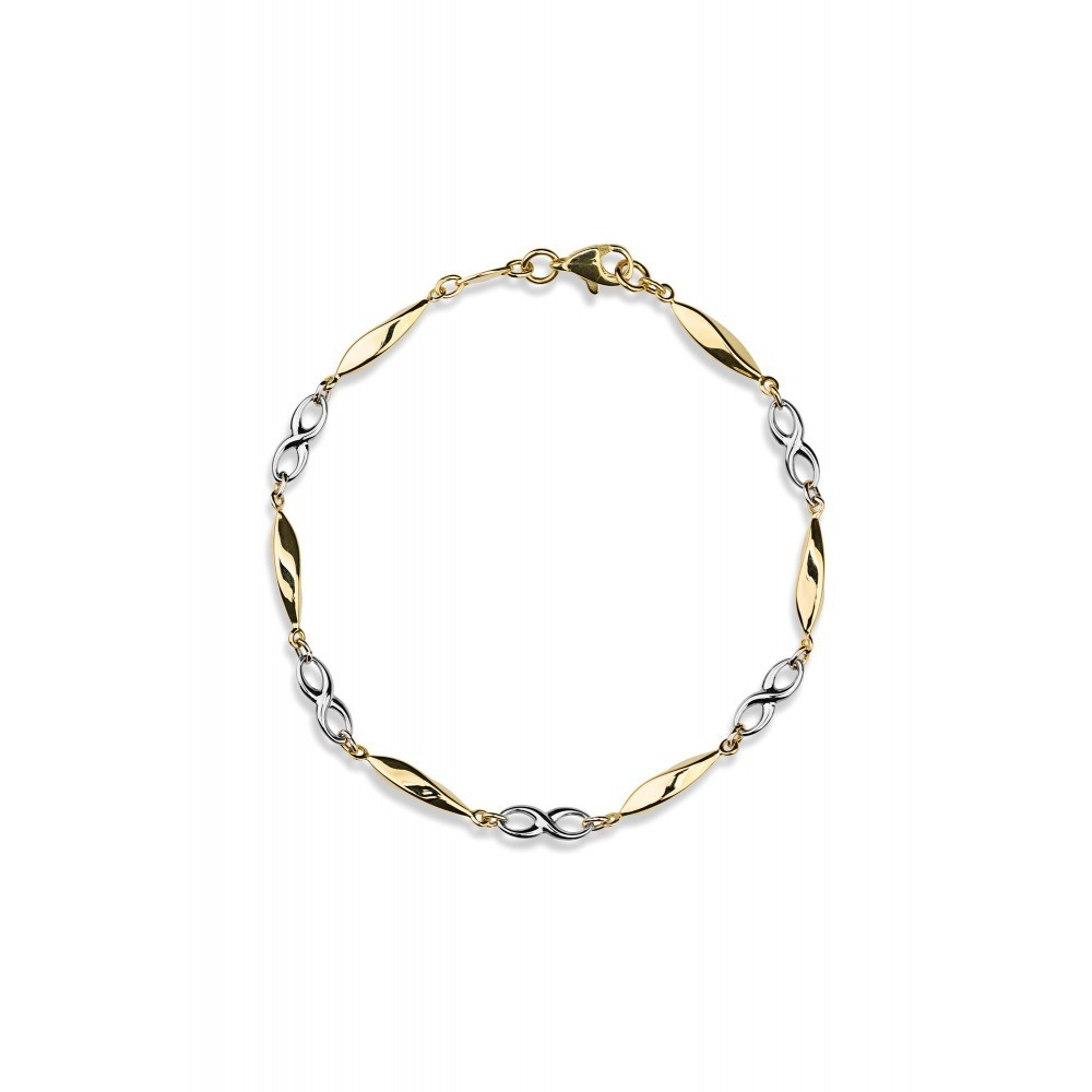 Gouden bicolor armband X3STB212118YW