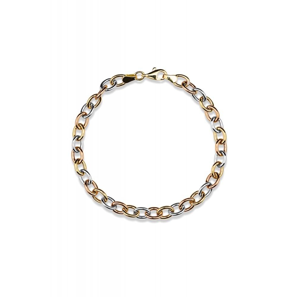 Gouden tricolor armband XHOB200579-II