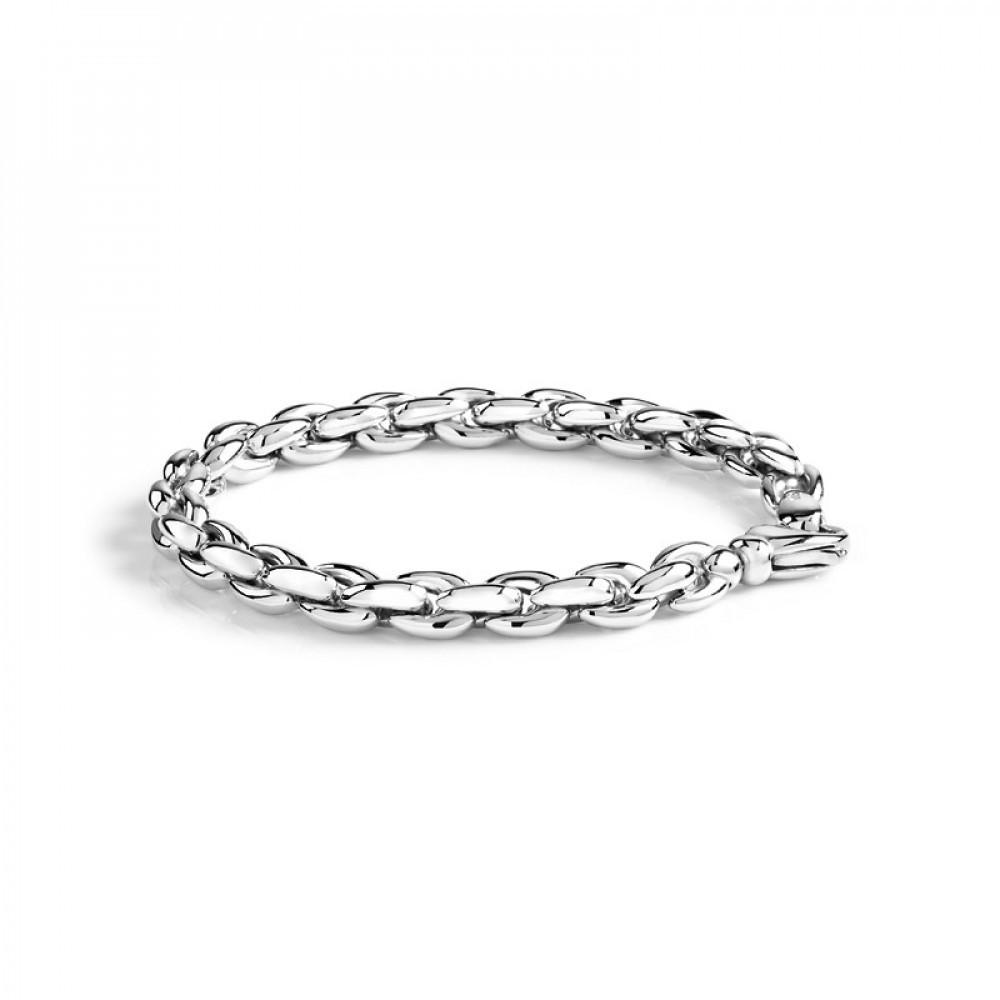 Zilveren schakelarmband 20cm 1043021-20