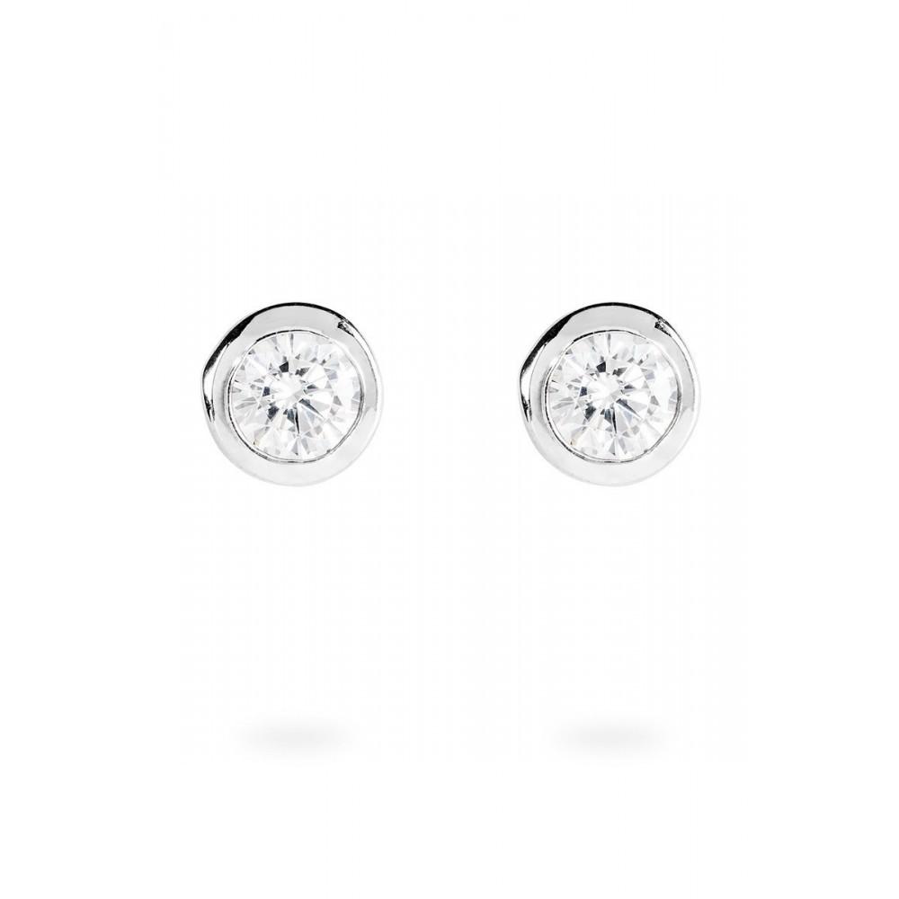 Zilveren oorknoppen Solitair 806.0042.00